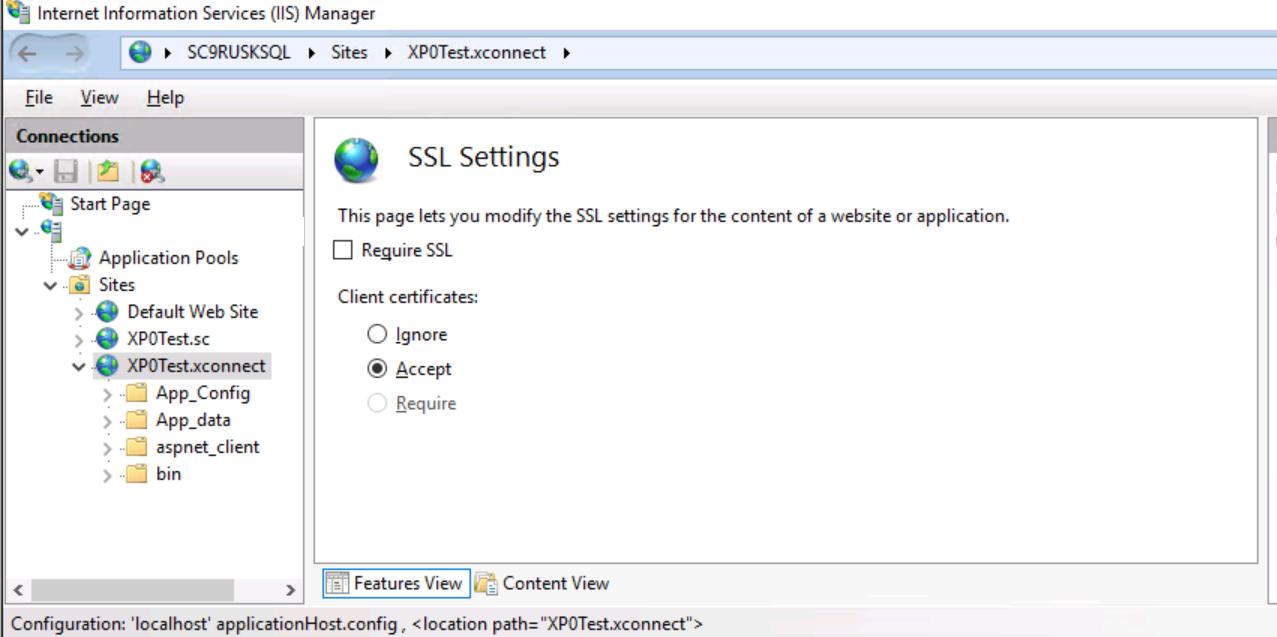 Accept Client Certificates
