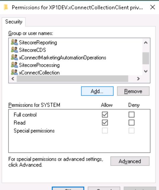 Client Cert AppPool Permissions